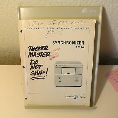 Agilent Hp 8709A Synchronizer Operating/service Manual, Schematic, Parts