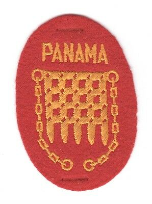 Army Patch:   Panama Hellgate - WWII era, felt