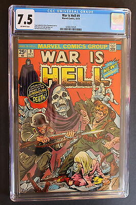 WAR IS HELL #9 first DEATH 1974 AVENGERS Infinity War MOVIE THANOS CGC VF- 7.5
