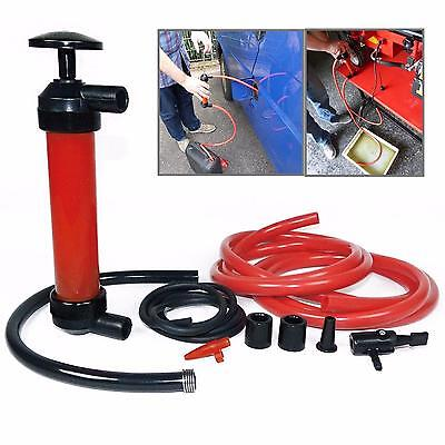 Red Manual Car Siphon Pump Oil Extractor Gas Liquid Water Transfer Tool - CB
