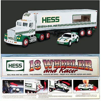 1991 Hess 18 Wheeler Truck and Racer NEW in Box ~ Toy NRFB