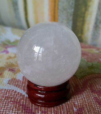 Rare Natural Quartz Sphere Ball Gemstone 38Mm