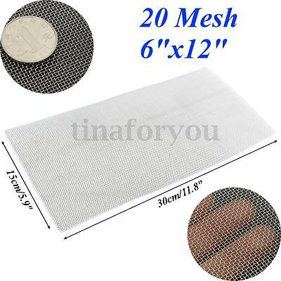 304 Stainless Steel 20 Mesh Wire Cloth Screen Filtration Supplies Tool 6x12''
