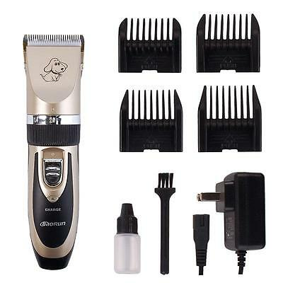 New Grooming Kit Pet Cat Dog Clipper Shaver Animal Hair Trimmer Tool US/EU Plug