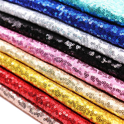 """Glitz Embroidery Sequin Fabric Wedding Party Events Decoration 50"""" Wide 39"""" Long"""