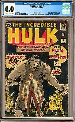 Incredible Hulk #1 CGC 4.0 (OW-W) Origin & 1st appearance of thr Hulk Avengers