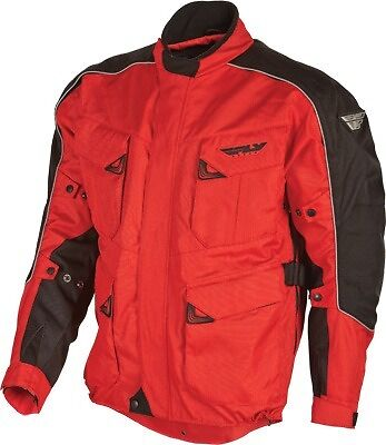 Fly Racing Terra Trek 3 Textile Motorcycle Jacket Red/Black