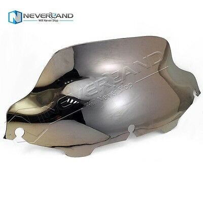 """Silver 8"""" Wave Wind Shield Screen For Harley Electra Street Glide Touring 96-13"""