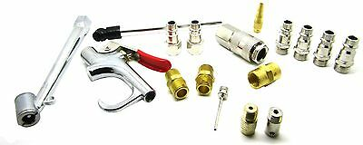 17 Piece Air Compressor Accessory Kit Includes Connectors Blow Gun Tyre Inflator