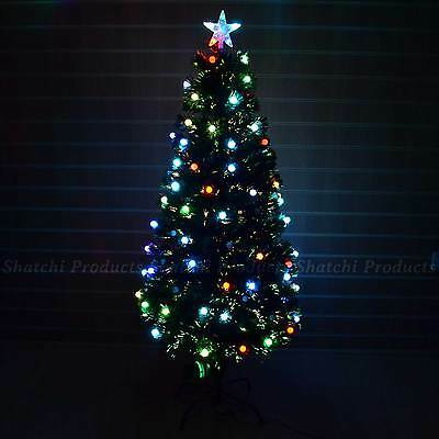 2ft, 3ft, 4ft, 5ft, 6ft Fibre Optic LED Christmas Tree Pre-Lit Xmas tree