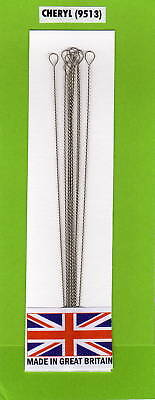 "Med 4"" Beading Needles Big Eye Pack 10  ** Free Post & Packing**"