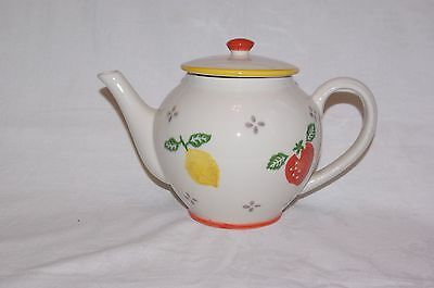 Laura Ashley Summer Fruits 2.5 Pint Capacity Teapot Lemons & Strawberries