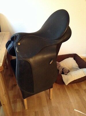 17 inch black wintec 250 GP cair Saddle With A Gullet Of Choice