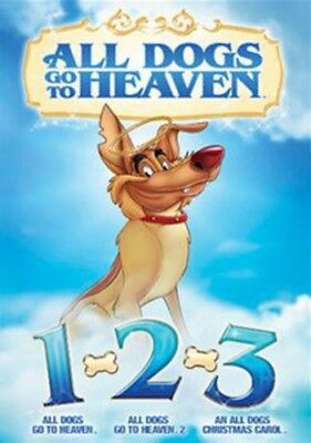 All Dogs Go to Heaven 1 & 2 / All Dogs Christmas [New DVD] Widescreen