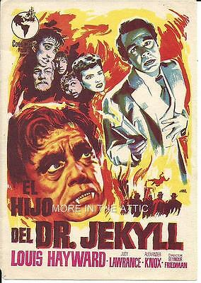 Louis Hayward Tries His Hand At Horror Orig Spanish Herald Not Universal