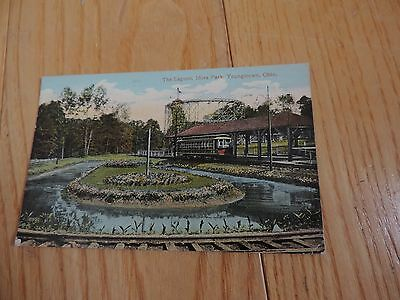 Antique Postcard Idora Park Roller Coaster Youngstown Ohio Lagoon (px868)