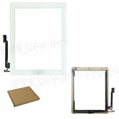 White Touch Screen Digitizer Front Glass KIT For iPad 4 4Th A1458 A1459 A1460
