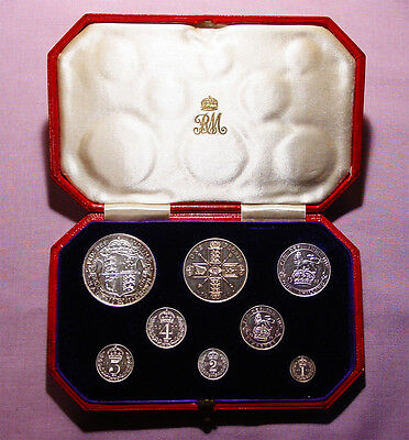 1911 ROYAL MINT KING GEORGE V PROOF SET COINS - Halfcrown to Maundy Penny