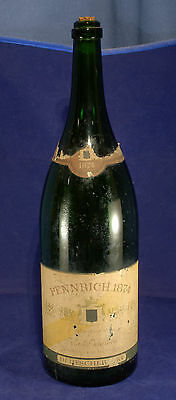 A Very Large Green Pennrich 1874 German Champagne Bottle . 3 Litre