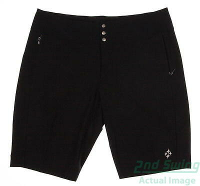 New Womens Jo Fit Golf Bermuda Shorts Size 8 Black MSRP $78