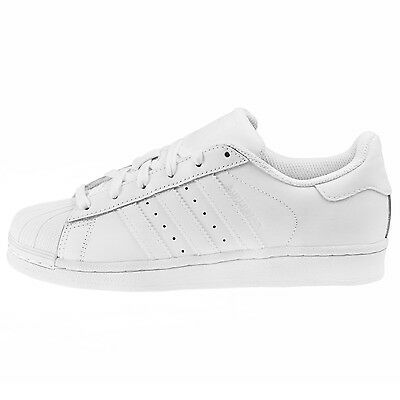 Adidas Superstar Foundation Juniors B23641 White Shell Kids Shoes Youth Size 7