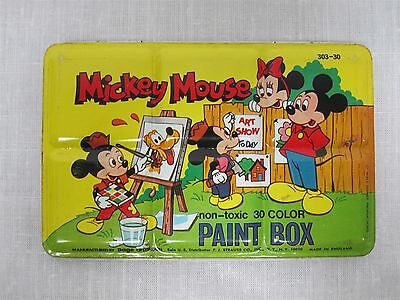 Vintage Page Of London Disney Mickey Mouse Tin Lithograph Watercolor Paint Box