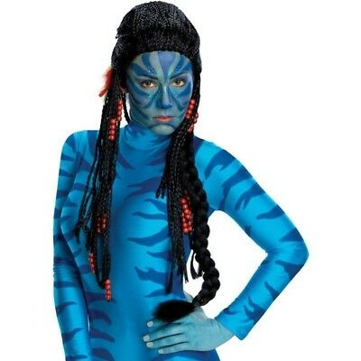 Avatar Movie New Deluxe Neytiri Braided Red Bead Wig Halloween Costume Cosplay