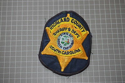Old Richland County South Carolina  Sheriff's Department Patch (T3)