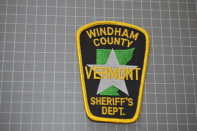 Old Windham County Vermont Sheriff's Department Patch (T3)