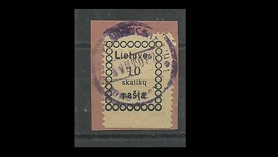 Lithuania 1919 First Vilnius Issue Scott #1 Mi 1, Russian Cyrilliac Characters