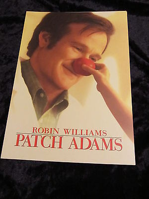 PATCH ADAMS british fold out synopsis/press book ROBIN WILLIAMS