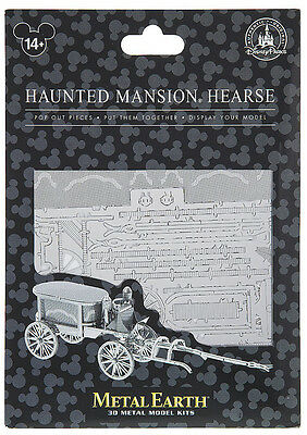 Disney Parks Haunted Mansion Hearse Metal Earth 3D Model Kits - NEW