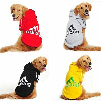 Small Dogs Casual Pet Dog Winter Warm Adidog Hoodie Coat Jacket Clothing Clothes