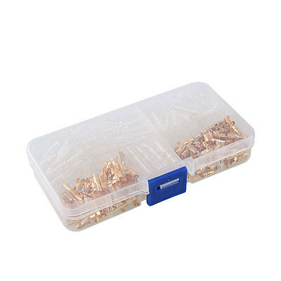 120Pcs Brass Bullet 3.5mm Terminal Male Female with Transparent Insulation Cover
