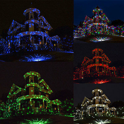 Outdoor Xmas Laser Light LED Garden Christmas Colorful Projector Waterproof