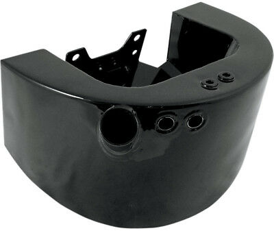Drag Specialties Side Fill Oil Tank For Harley-Davidson Gloss Black 0710-0161