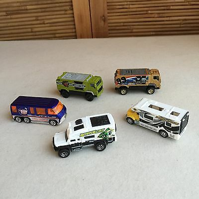 BULK Lot 5X DIECAST Motor home, Desert THUNDER ~ HOT WHEELS Matchbox ~ LOOSE