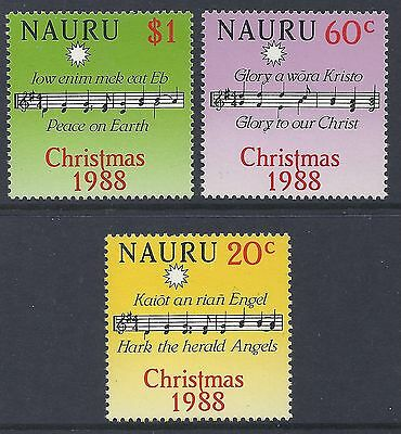 1988 Nauru Christmas Set Of 3  Fine Mint Muh/mnh