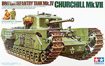 Tamiya 35210 British Infantry Tank Mk.IV Churchill Mk.VII  1/35 Scale kit