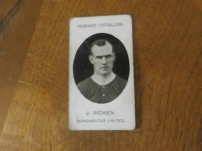 1907 Original Taddy Prominent Footballers Manchester United Player J Picken