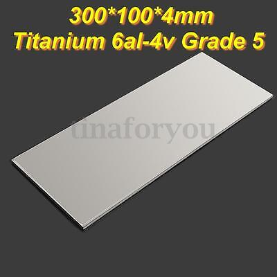 100X300mm Titanium Foil 6al-4v Grade 5 Ti Gr.5 Metal Sheet Plate 4mm Thick