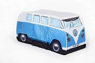 The Monster Factory VW Volkswagen T1 Camper Van Kids Pop-Up Play Tent - Blue