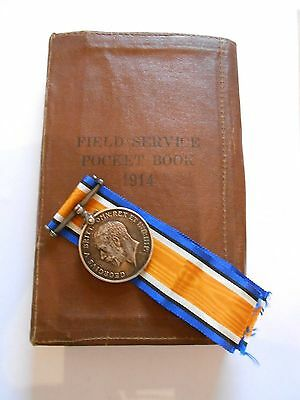 field service 1914 pocket book and war medal    74th field ambulance BEF  France