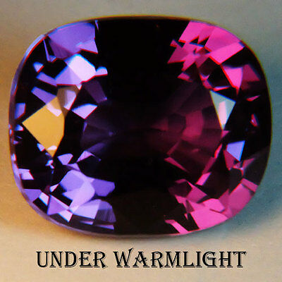 13.85ct.AWESOME RUSSIAN COLOR CHANGE ALEXANDRITE CUSHION GEM
