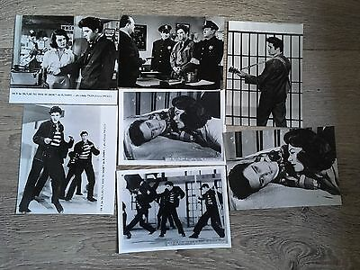 Le Rock Du Bagne 1957 - R. Thorpe - Elvis Presley - Lot 7 Photos Cinema Presse