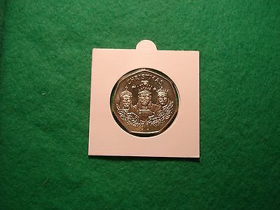 1988 Gibraltar brill.a/uncirculated christmas 50p three wise men FREEPOST