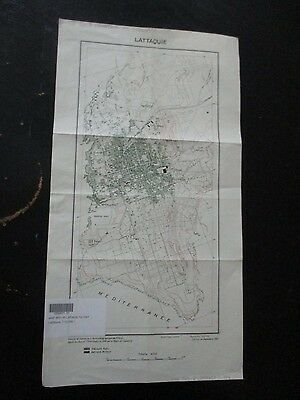 LATAKIA: AN OLD MILITARY FRENCH MAP, 1:10000 SCALE,ISSUED by FFLL,1941. VBOK181