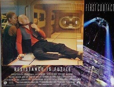 Star Trek First Contact 1996 UK Mini Poster Original Picard with Lily