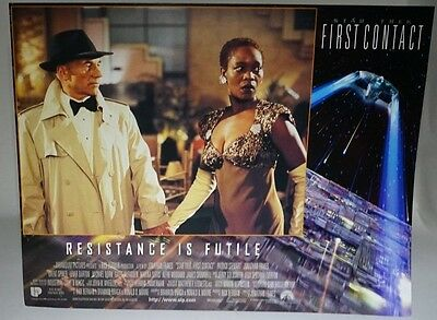 Star Trek First Contact 1996 UK Mini Poster Original Picard & Lily on the hollow