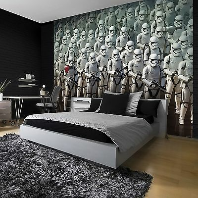 STAR WARS WALLPAPER WALL MURAL 254 x 184cm FORCE AWAKENS STORMTROOPERS NEW